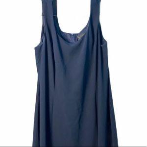 S.L. Fashions Navy Blue Dress, size 18